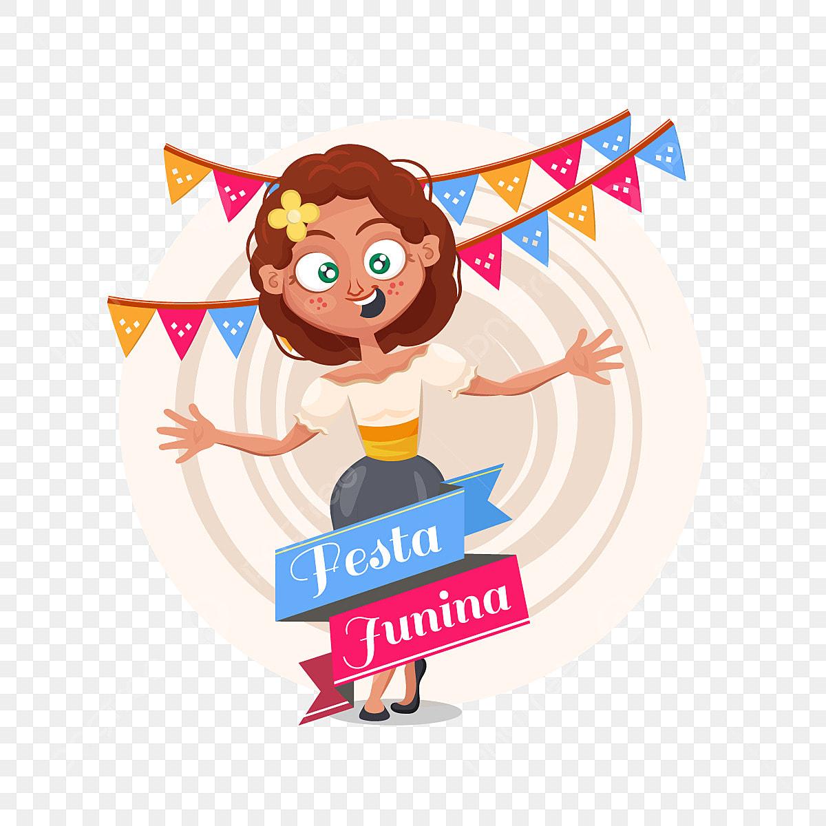 Festa Junina Contexte Avec Une Fille Clipart Fille Junina Festa Png Et Vecteur Pour Telechargement Gratuit