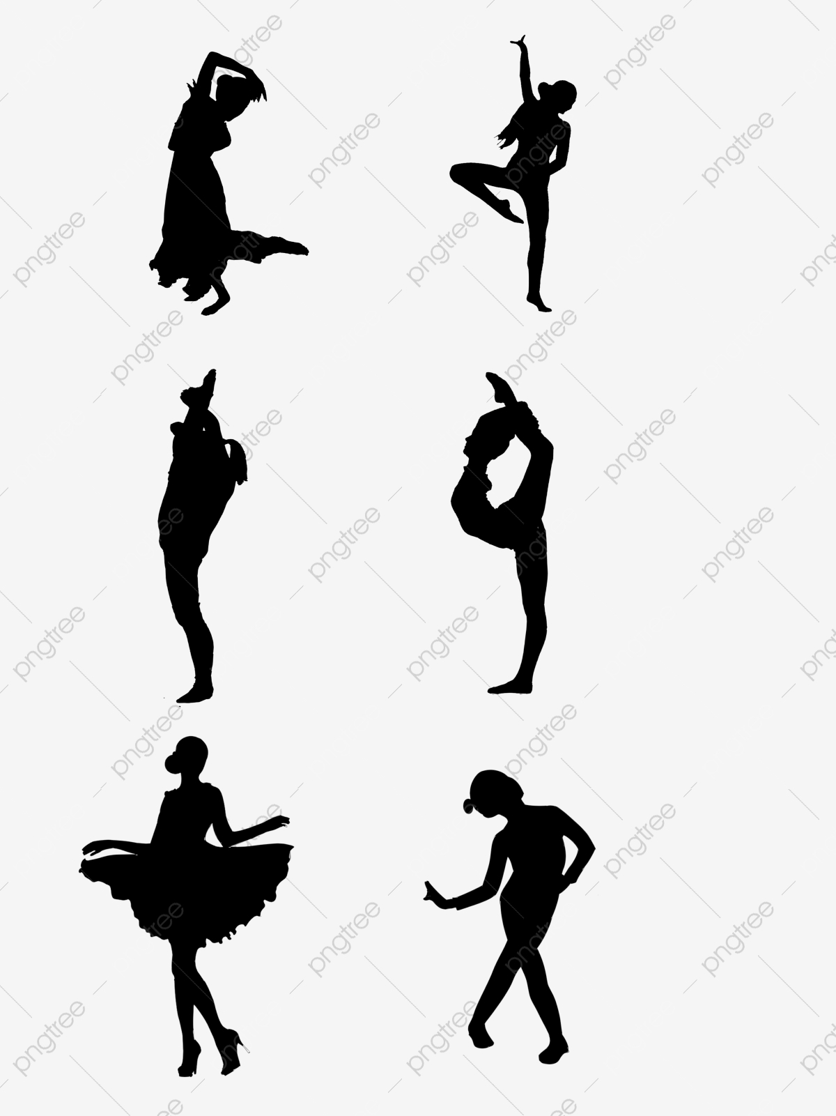 Free Black Dance Girl Adult Child Dance Black Silhouette Png Transparent Clipart Image And Psd File For Free Download