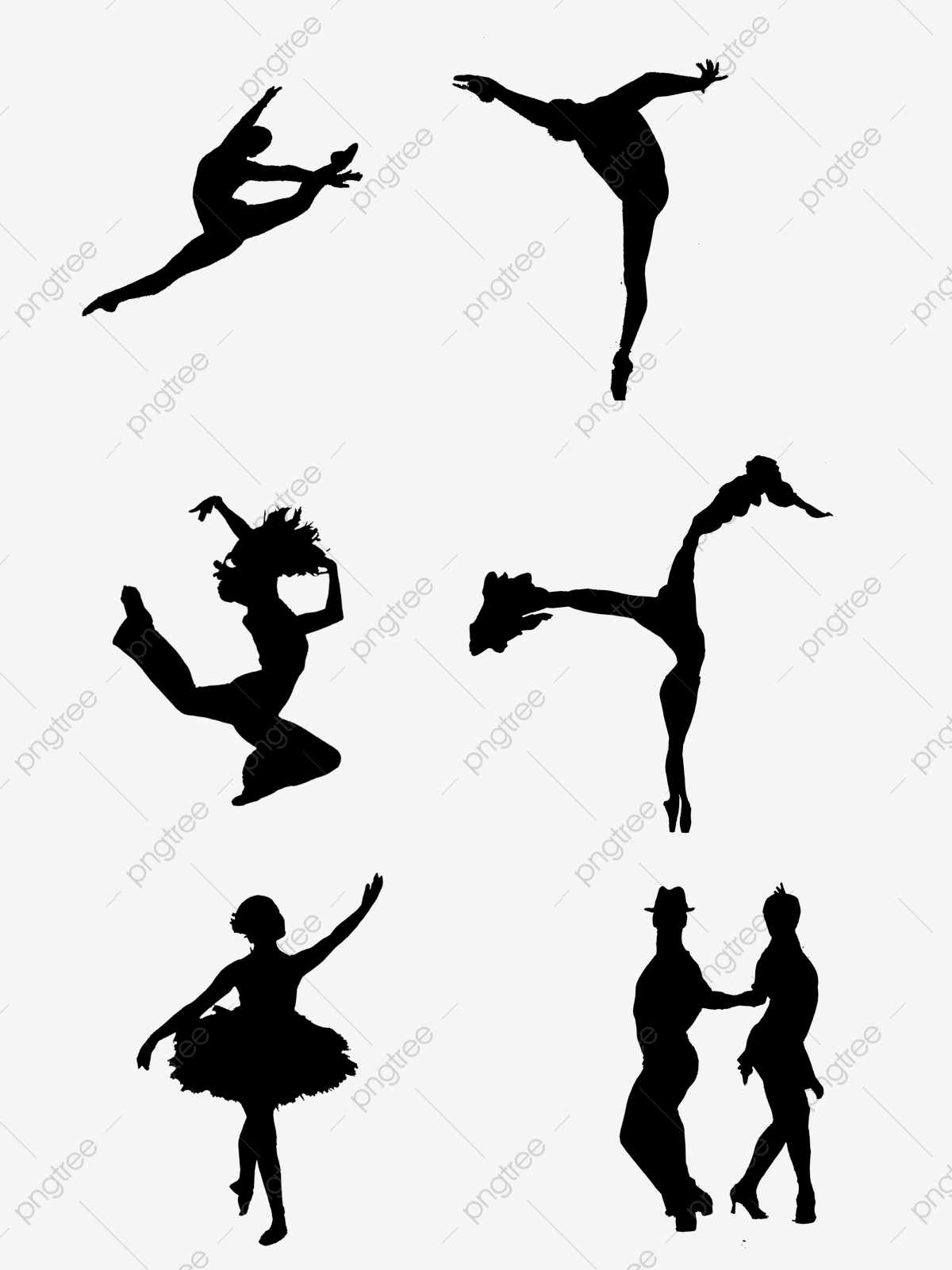 Free Dancing Silhouettes Png Vector Psd And Clipart With Transparent Background For Free Download Pngtree