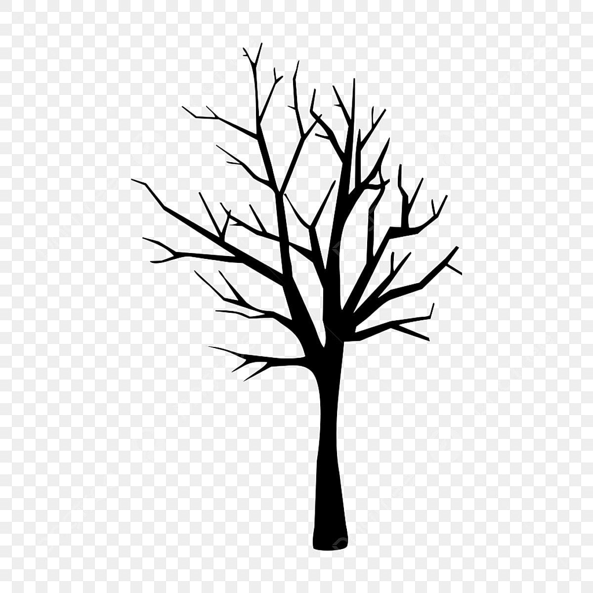 Bare Tree Winter Design Isolated On White Background Stock Vector -  Illustration of tree, black: 129768798