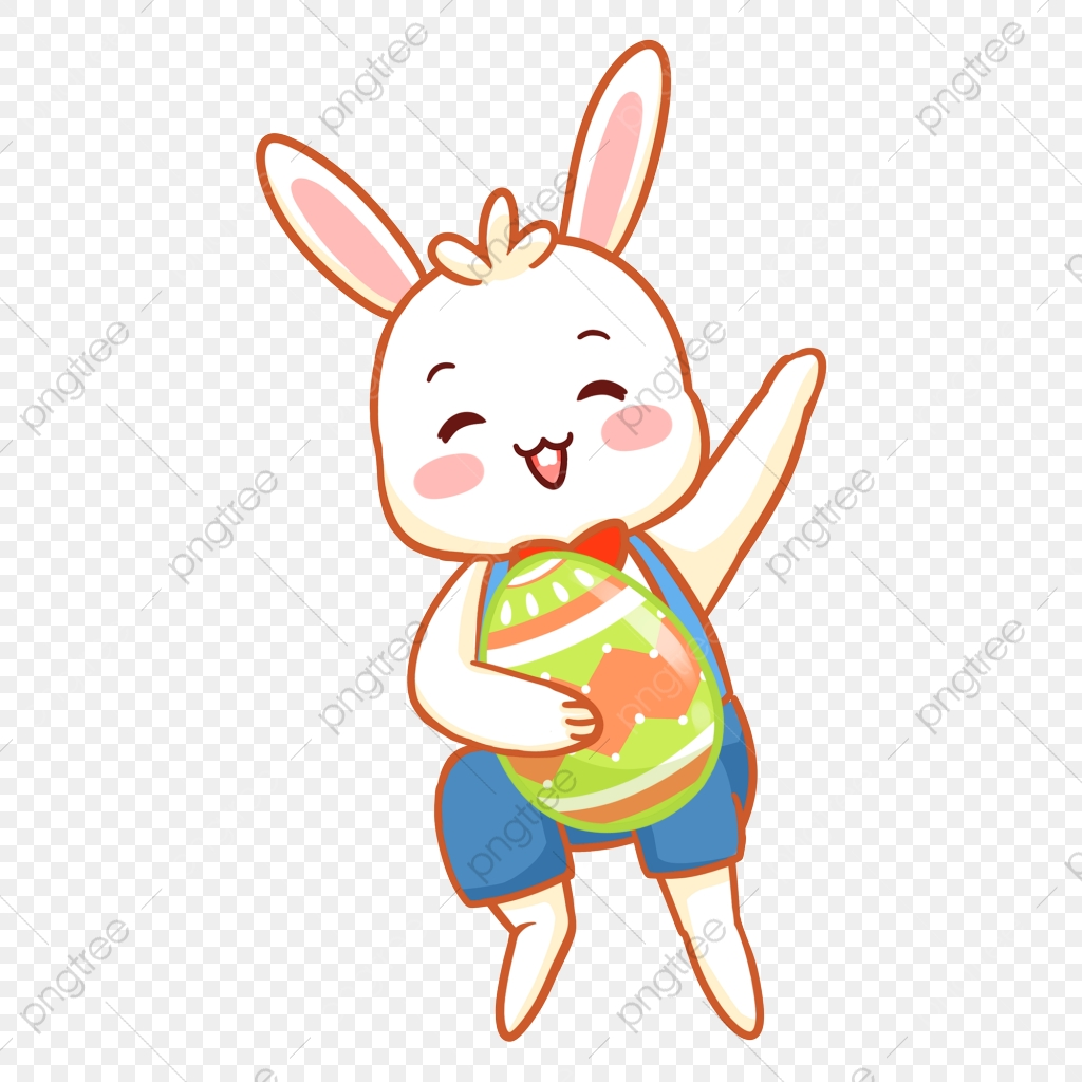 élément De Dessin Animé Animal Pâques Lapin élément Pâques