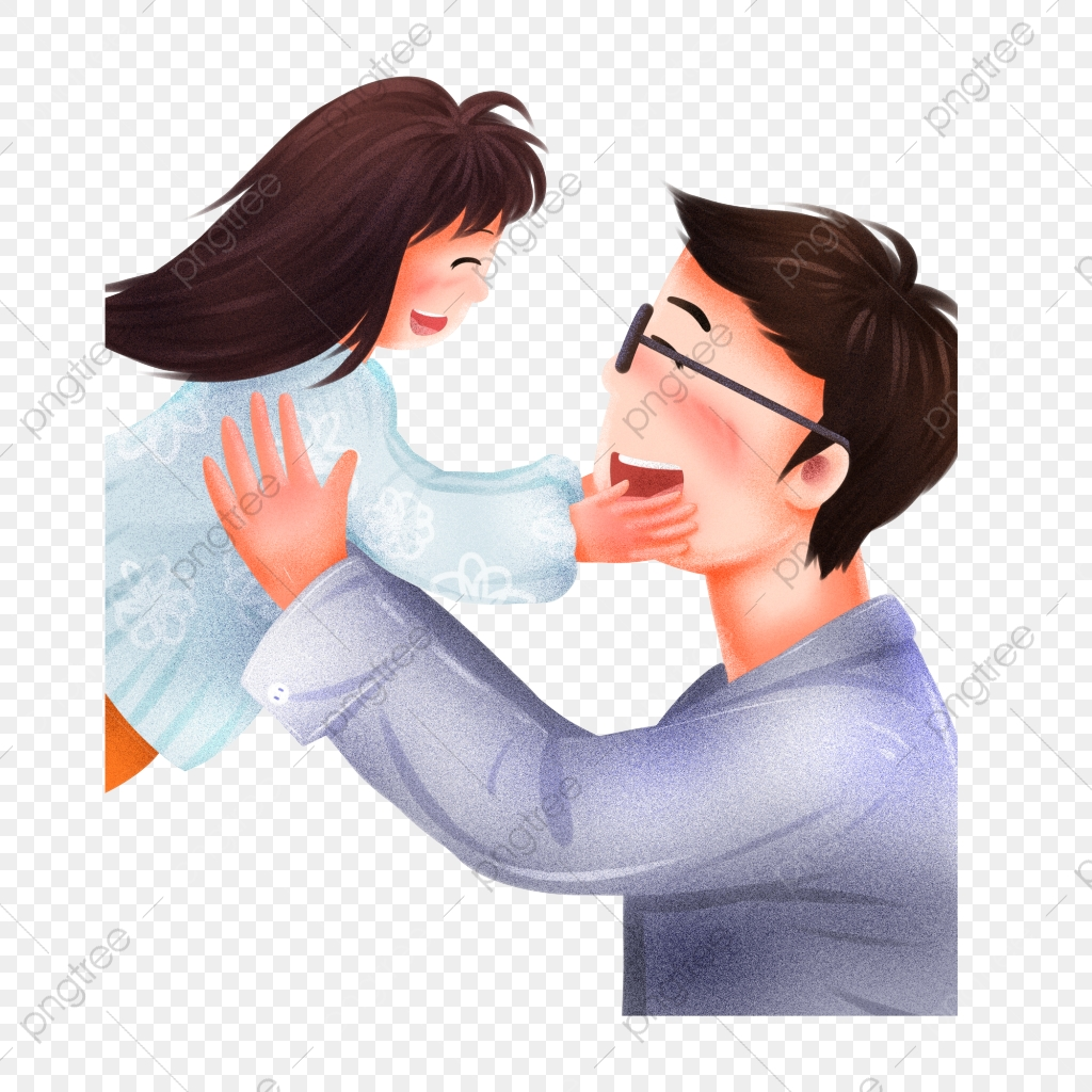 Gambar Ilustrasi Bapa Dan Anak Perempuan Bahan Watak Tangan Yang Ditarik Kartun Anak Bapa Ilustrasi Bapa Dan Anak Perempuan Png Dan Psd Untuk Muat Turun Percuma