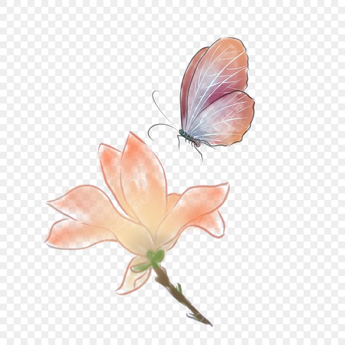 Gambar Elemen Reka Bentuk Hiasan Antik Rama Rama Bunga Cat Air Yang Dilukis Dengan Tangan Dilukis Dengan Tangan Cat Air Bunga Png Dan Psd Untuk Muat Turun Percuma