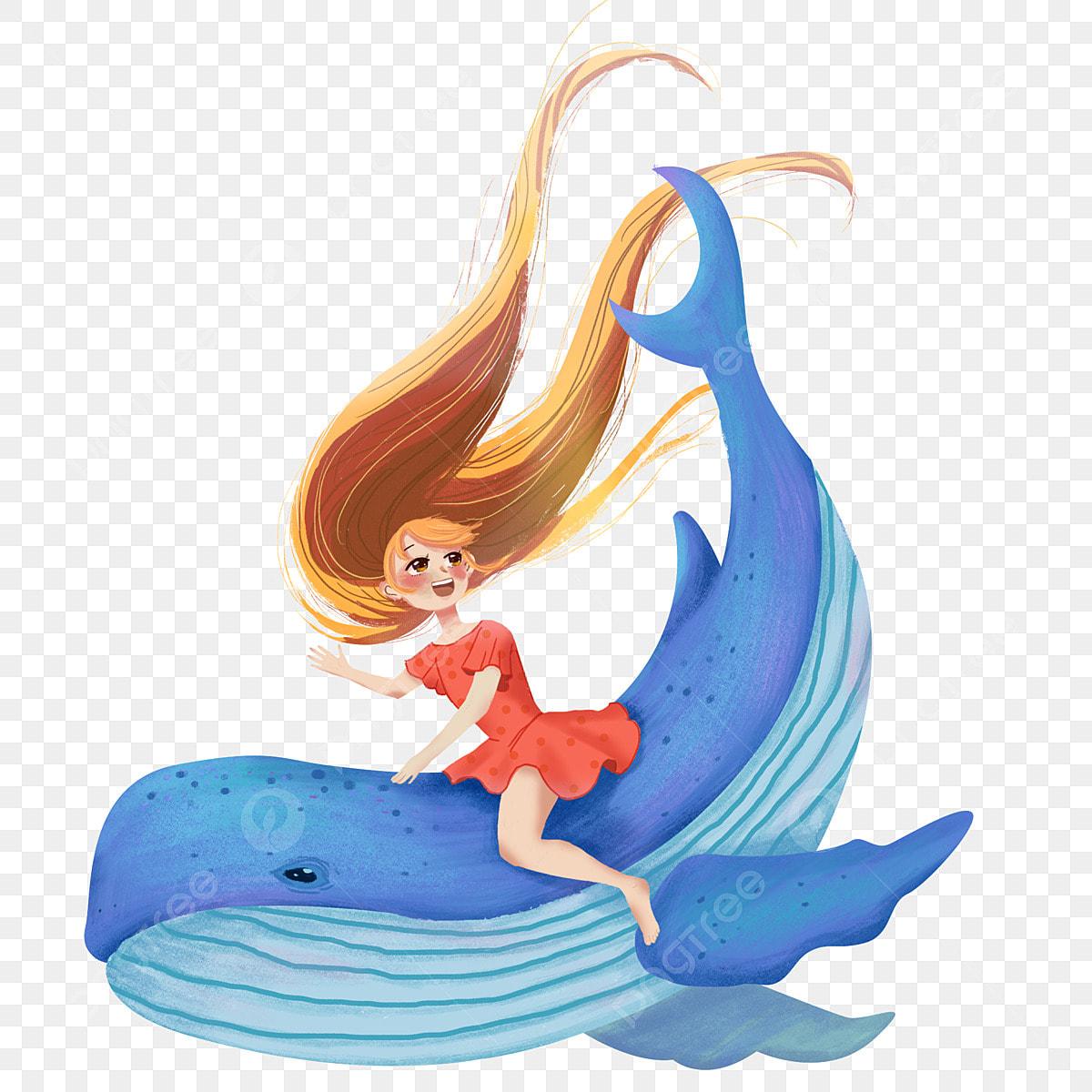 Baleine Personnage Romantique Dessin Animé Design