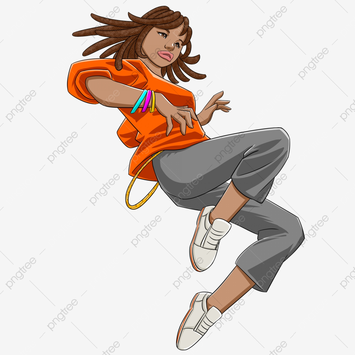 Madden Black Hip Hop Girl Black Girl Street Dance Png Transparent Clipart Image And Psd File For Free Download