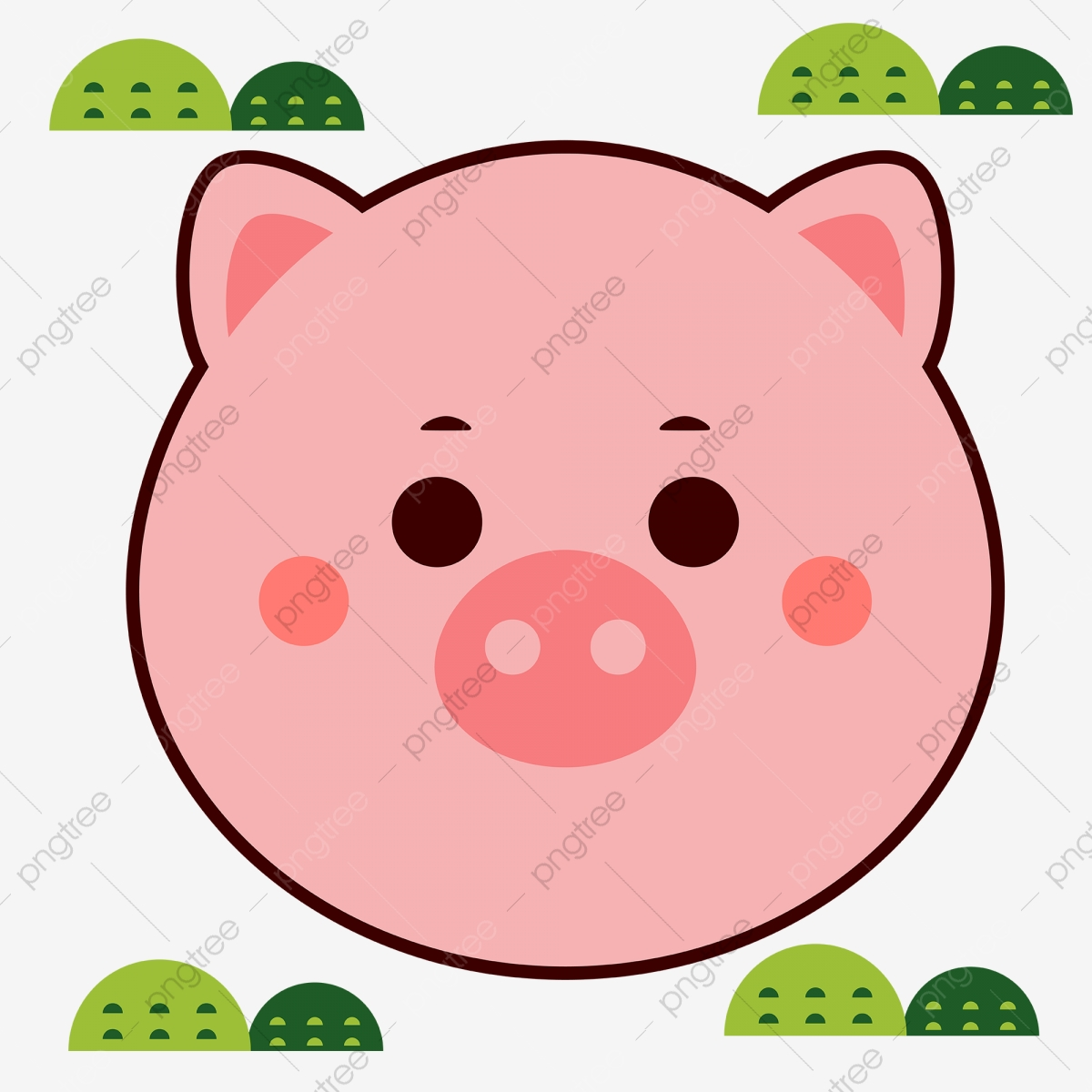Pig Cartoon Avatar Material Original Vector Ai Png And Vector With Transparent Background For Free Download