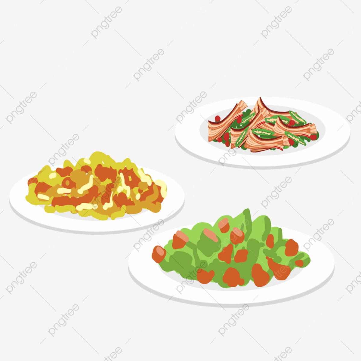 18099 dinner plate with food clipart | Public domain vectors