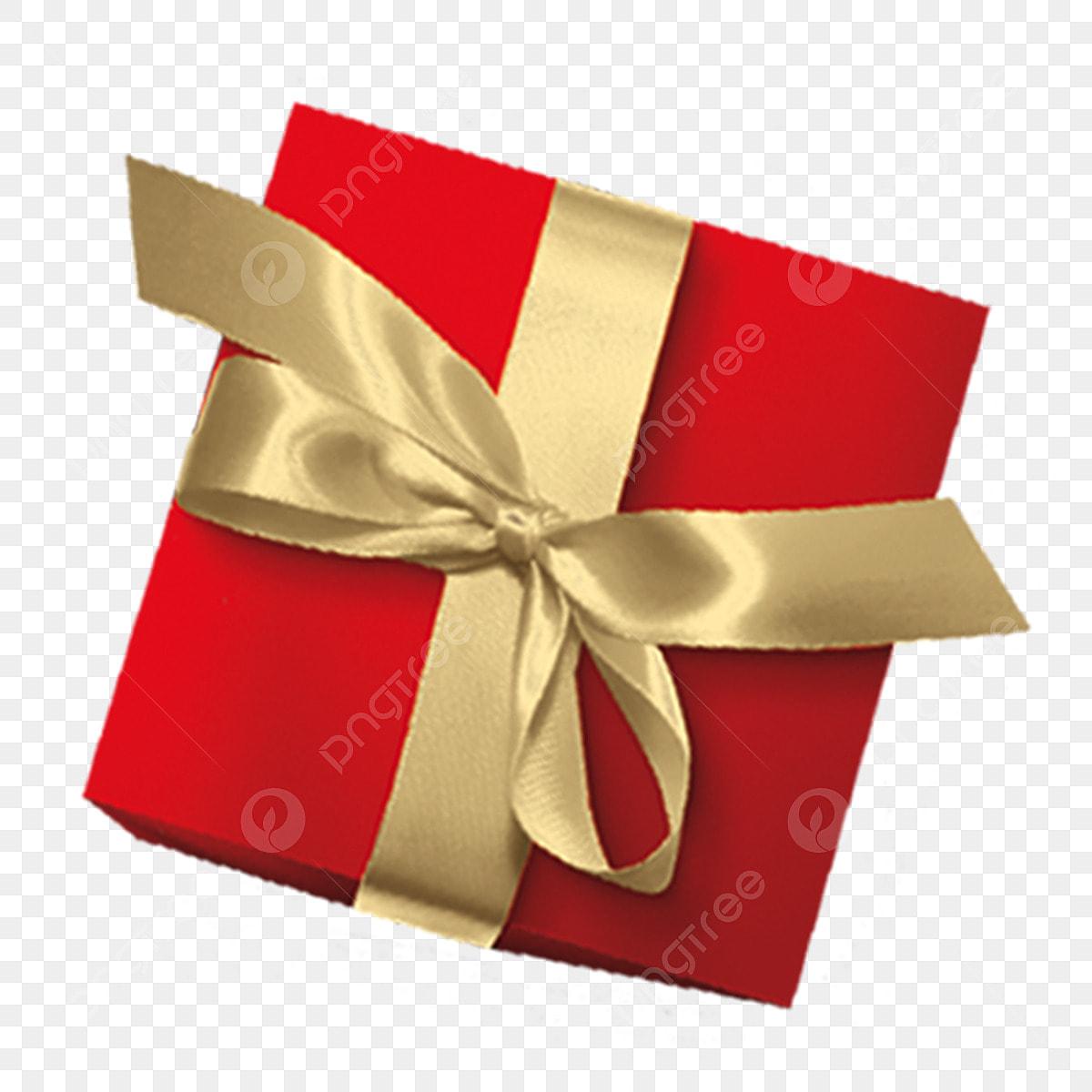 الأحمر هدية مربع الذهب الشريط أحمر صندوق الهدايا ذهب Png وملف Psd للتحميل مجانا