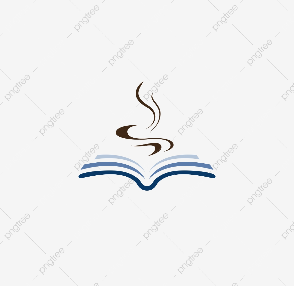 Simple Book Cafe Shop Logo Coffee Bookstore Book Coffee Png And Vector With Transparent Background For Free Download