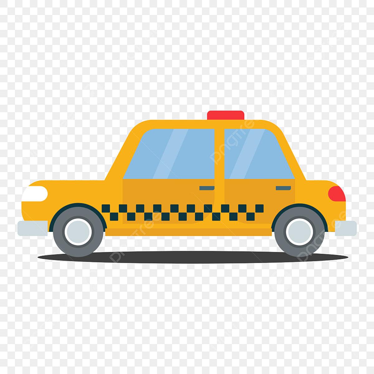 Element D Illustration Simple Dessin Anime Materiau Libre Taxi Clipart Element D Illustration Facile Fichier Png Et Psd Pour Le Telechargement Libre