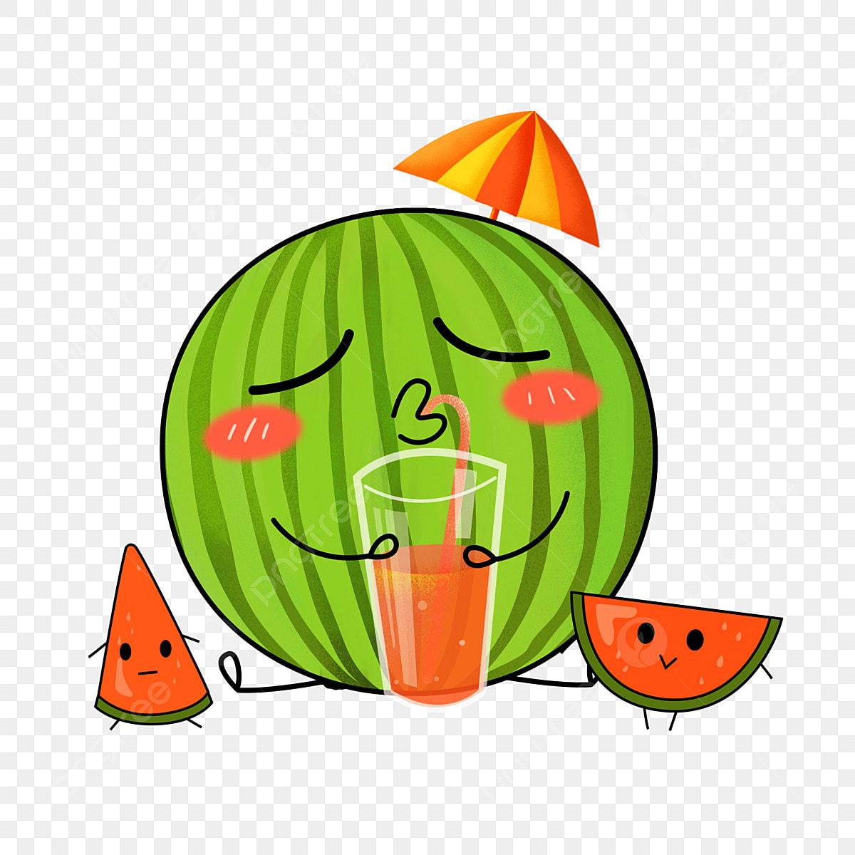 Watermelon Emoji Cartoon Cute Decorative Summer Element