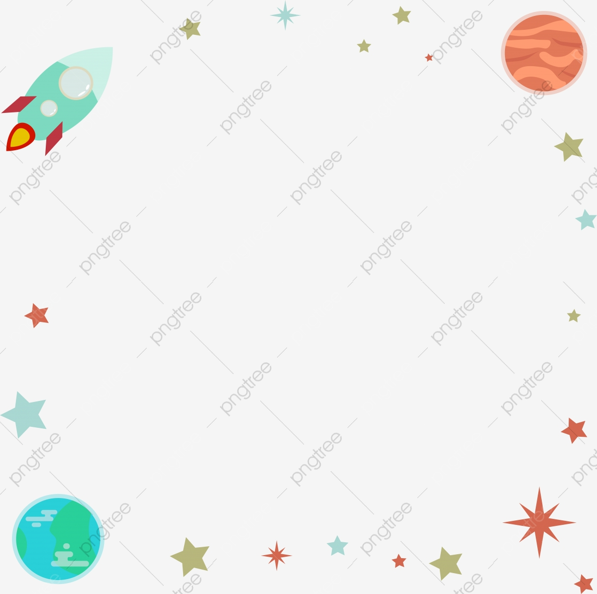 World Aviation Starry Sky Planet Rocket Cartoon Border World Aviation Day Starry Sky Planet Png Transparent Clipart Image And Psd File For Free Download