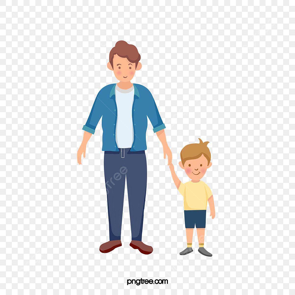 Gambar Muda Ayah Dan Anak Kecilnya Anak Laki Laki Kartun Charcter Png Dan Psd Untuk Muat Turun Percuma