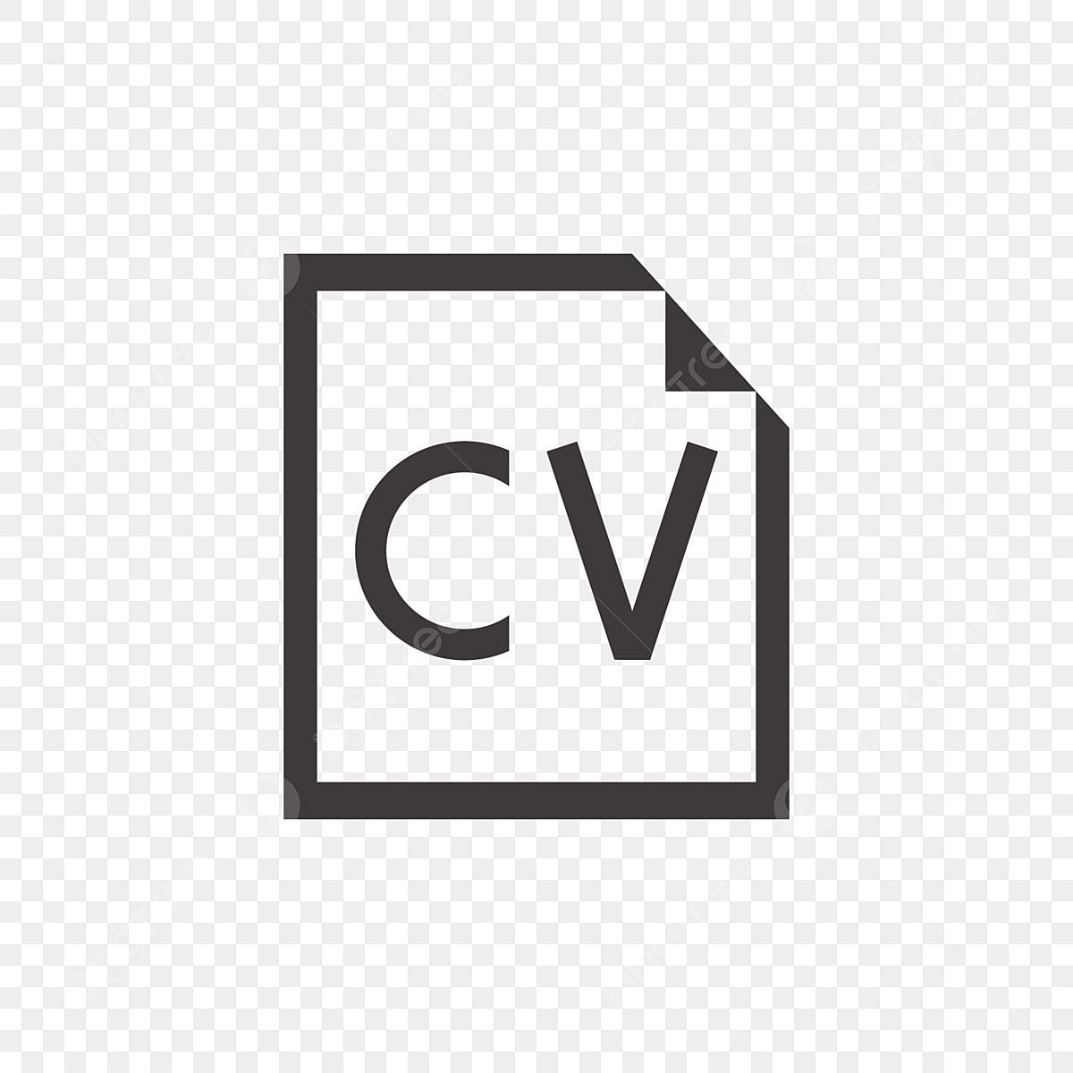 Cartoon Cv Web Icon Button Icon Free Illustration Black