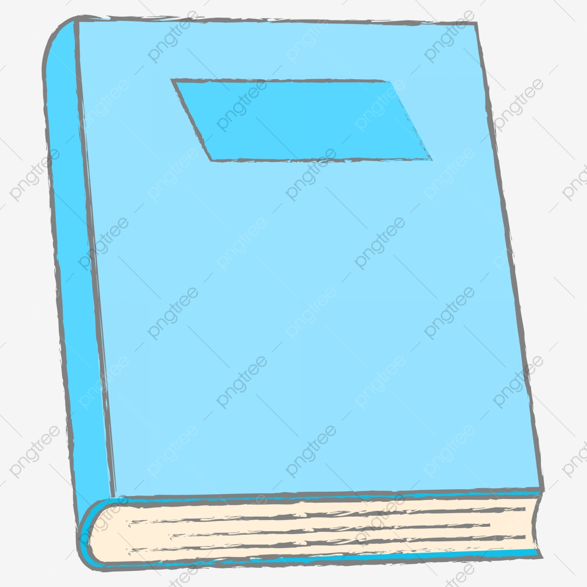 Livre Bleu Un Livre Dessin Anime Vecteur Un Livre Vecteur