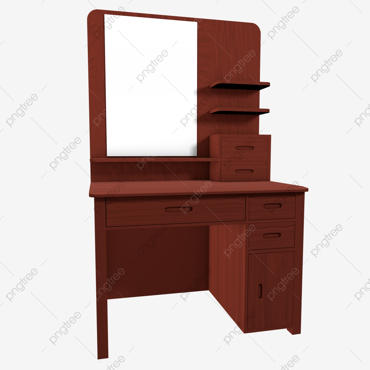 C4d Simulation Physical Dressing Table Furniture Room, C4d ...