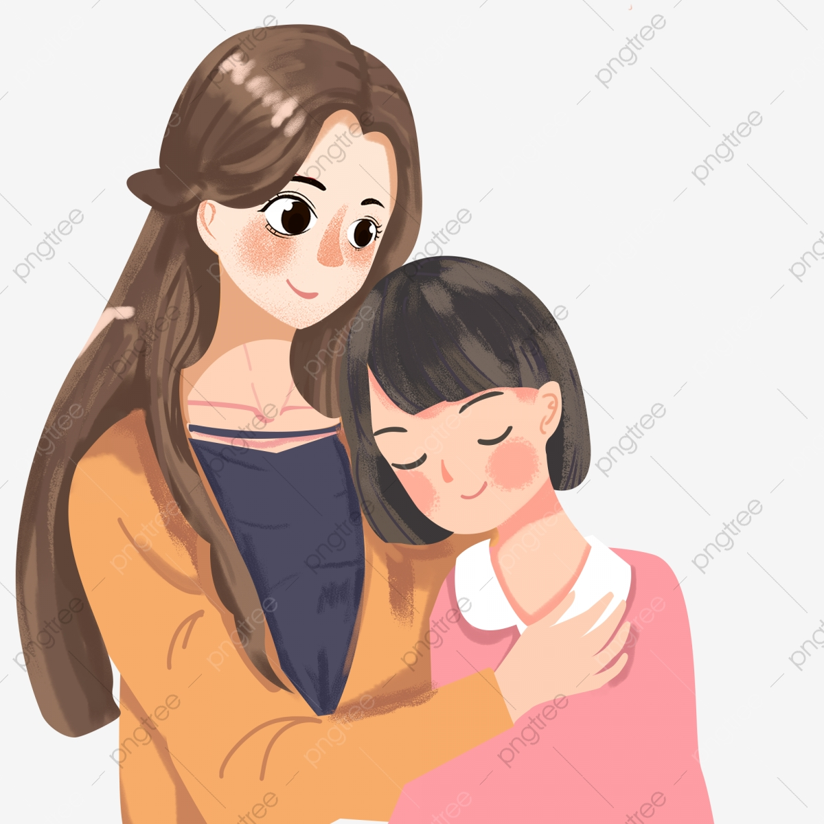 Gambar Hari Ibu Ibu Dan Anak Perempuan Ibu Dan Anak Kartun Watak Kartun Hari Ibu Ibu Dan Anak Perempuan Ibu Dan Anak Perempuan Kartun Png Dan Psd Untuk Muat Turun Percuma
