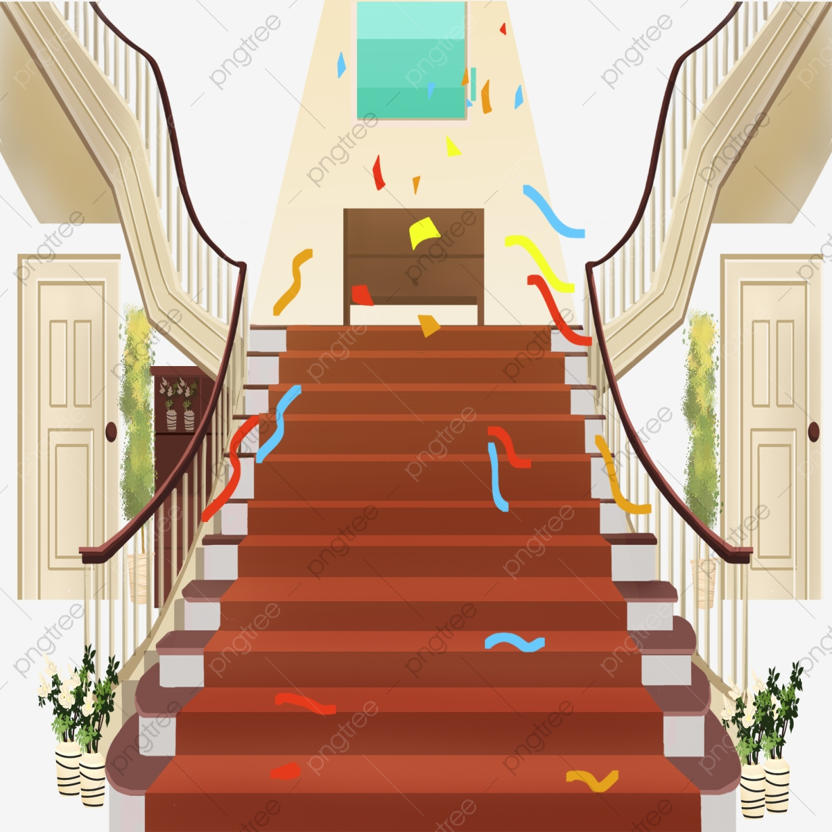 Cartoon Stair Guard Railing Handrail Stairs Cartoon Pattern Png Transparent Clipart Image And Psd File For Free Download