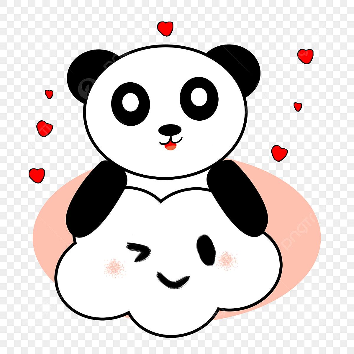 Cute Cartoon Clouds And Panda Clouds Panda Cute PNG