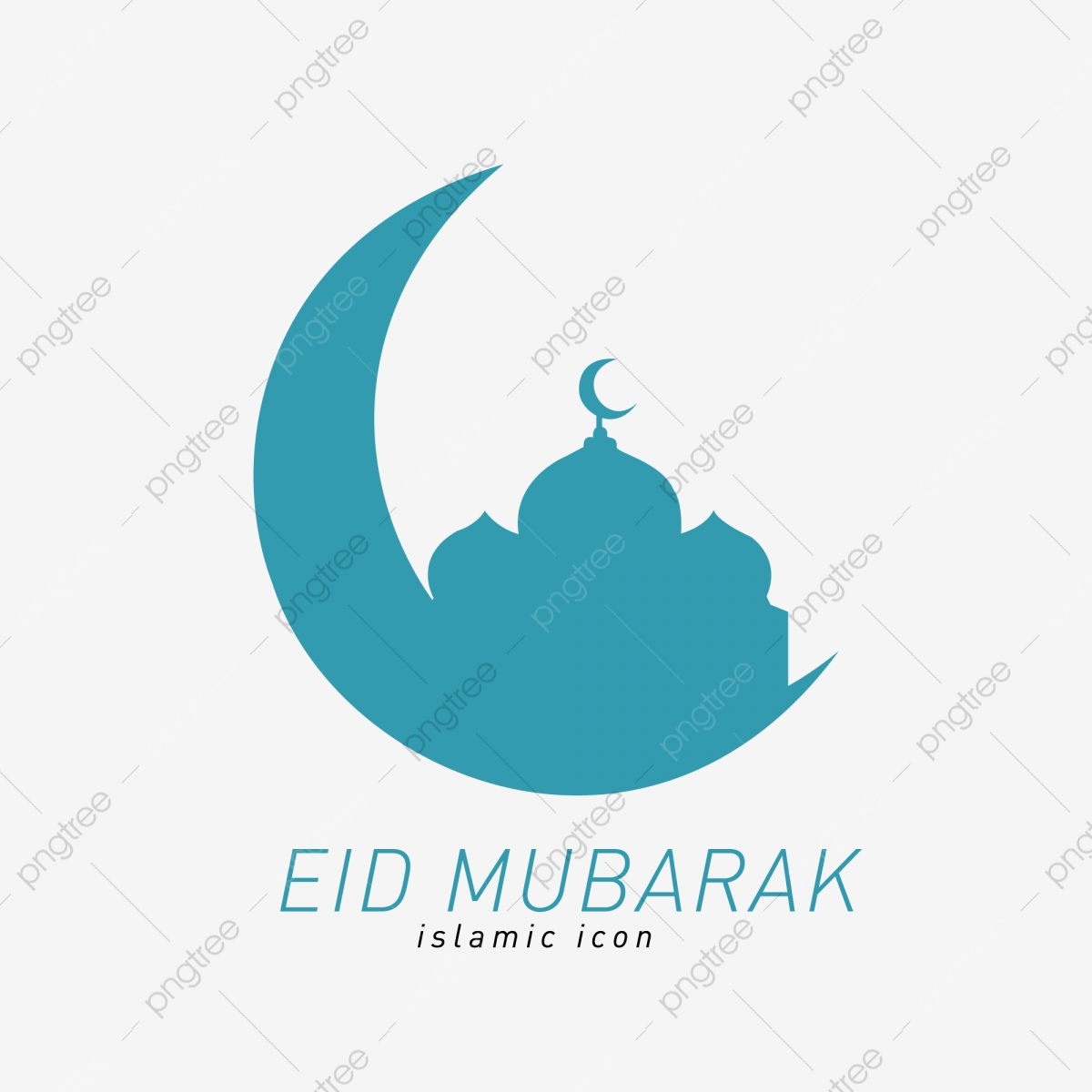 Eid Mubarak Islamic Icon Woman Line Man Png And Vector With Transparent Background For Free Download