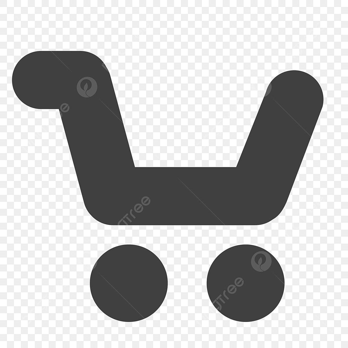 Empty Cartoon Shopping Cart Shopping Cart Cartoon Black Png