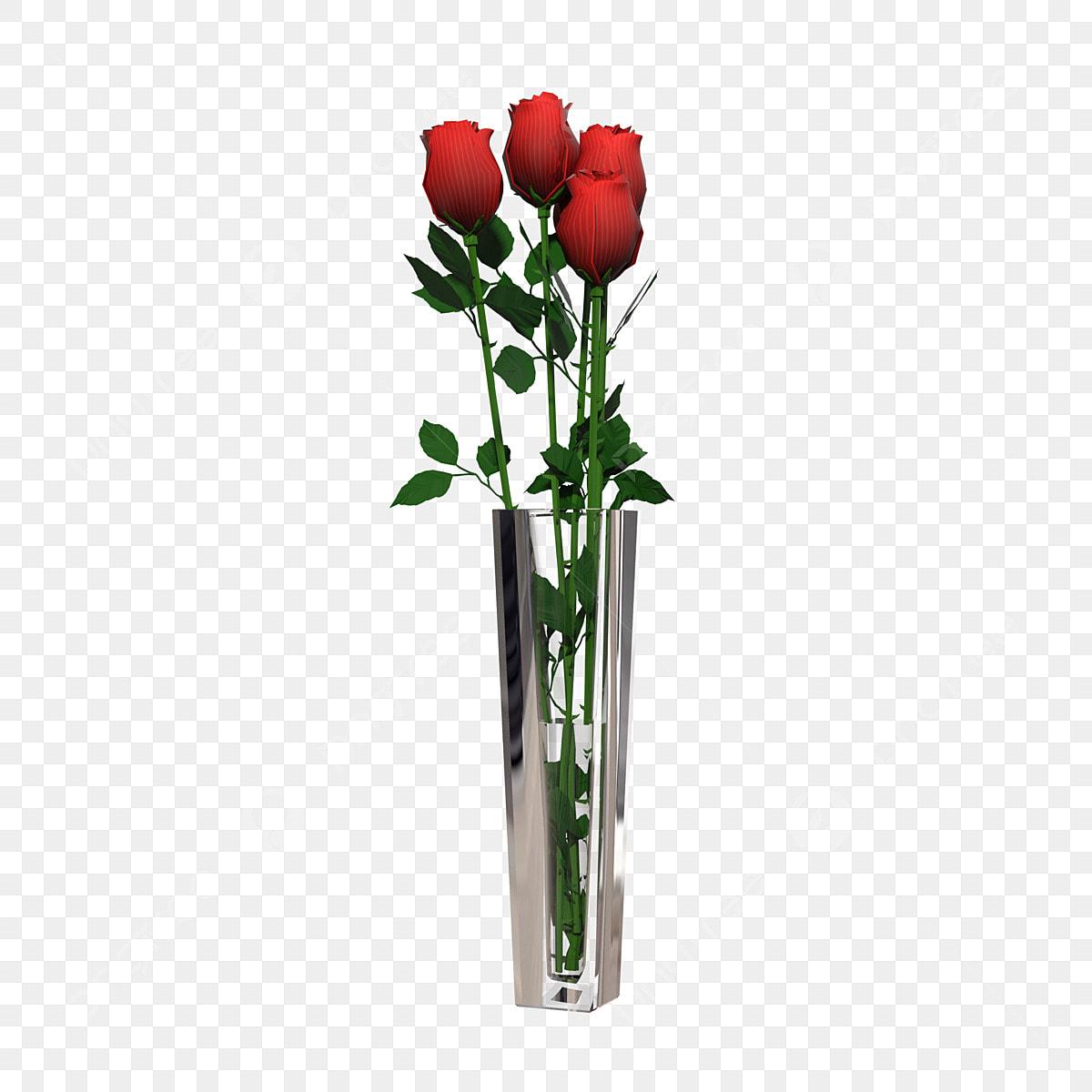 Glass Vase Rose Flower Arrangement Vase Clipart Glass Flower Arrangement Png Transparent Clipart Image And Psd File For Free Download