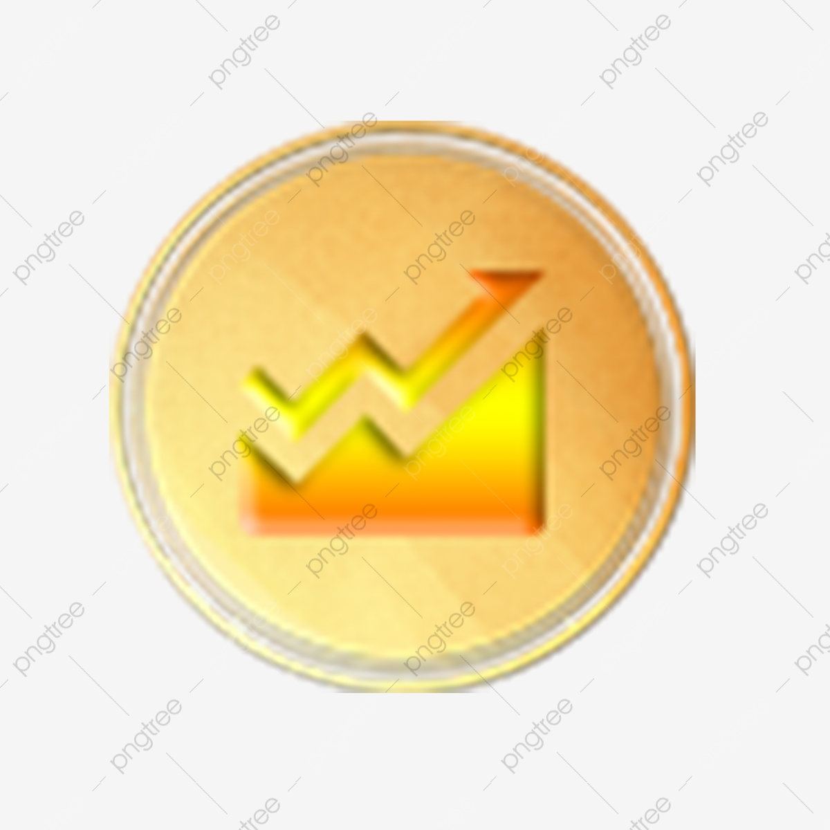 Line Chart Icon Line Chart Business Icon Golden Icon Png