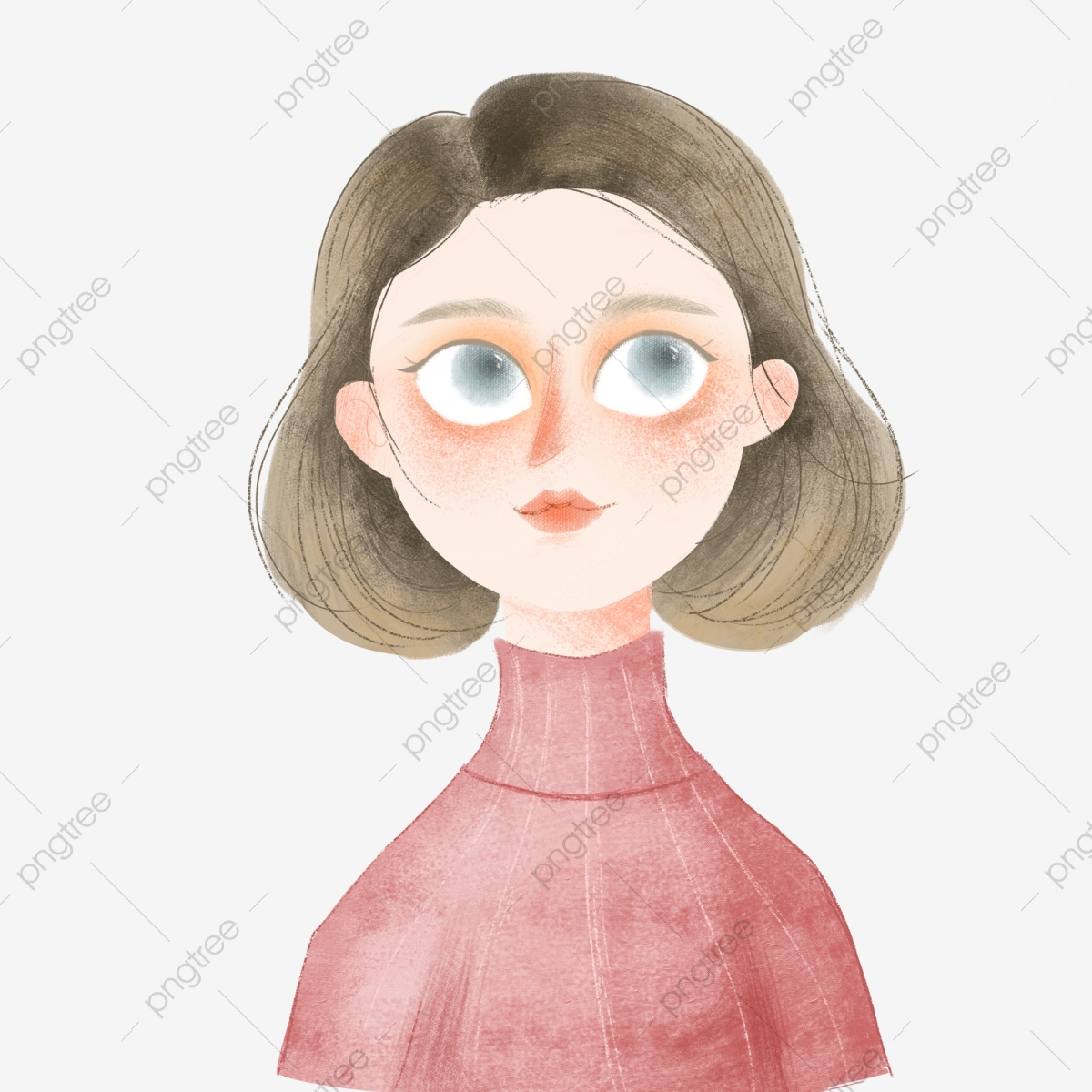 Short Hair Girl Beautiful Girl Short Hair Big Eyes Png Transparent Clipart Image And Psd File For Free Download