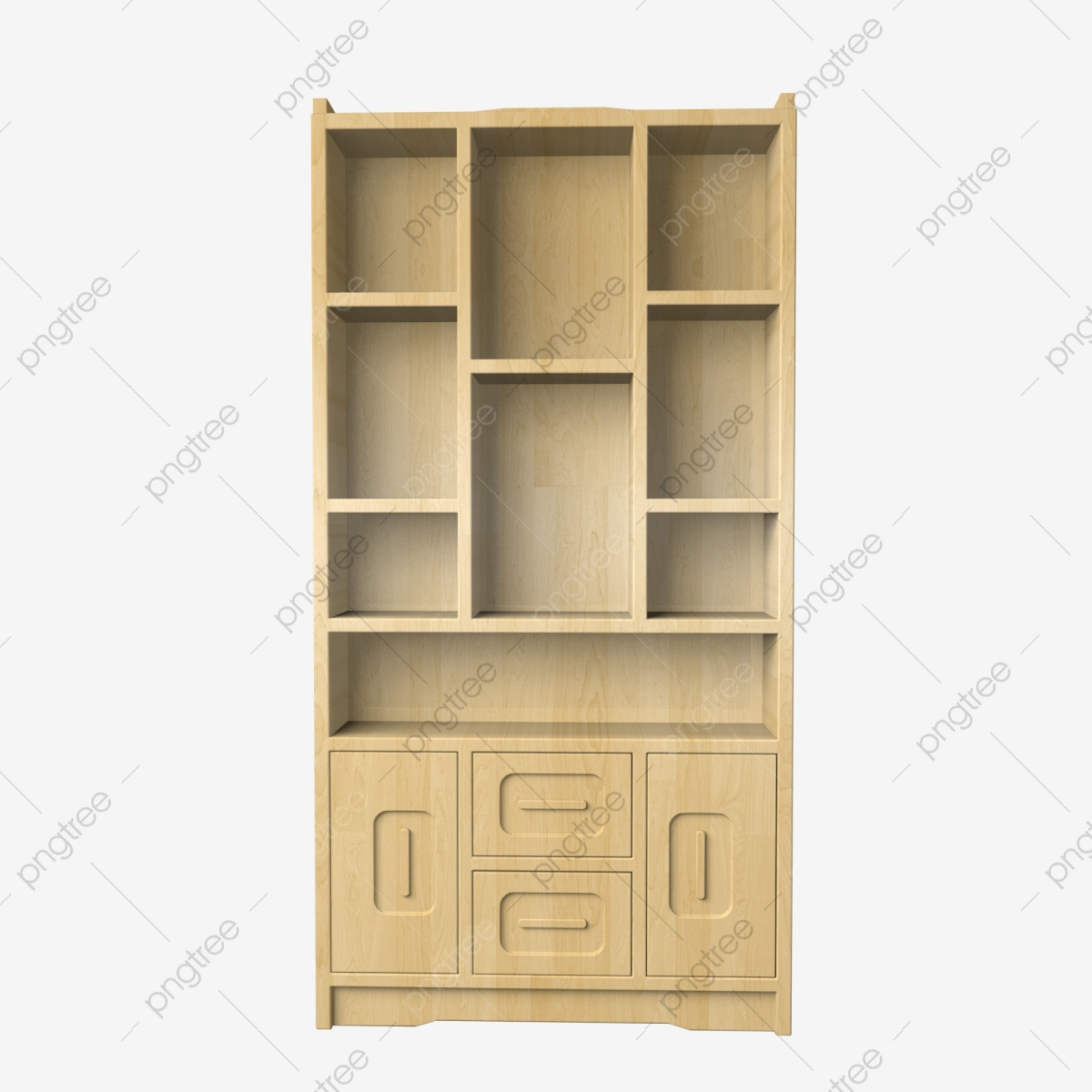 Simulation Furniture Solid Wood Bookcase Cd4 Three
