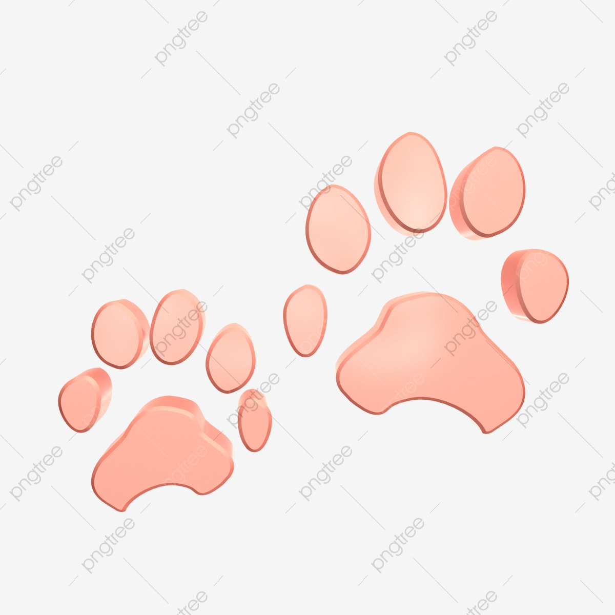 Solid Solid Color Footprint C4d Decoration C4d Stereo Pair Of Big Feet Footprints Big Feet Png Transparent Clipart Image And Psd File For Free Download