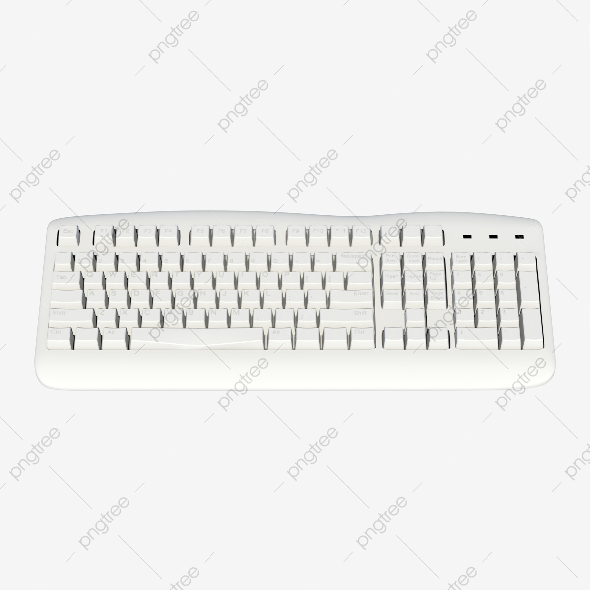 White Mechanical Computer Keyboard Keyboard Peripherals Computer Png Transparent Clipart Image And Psd File For Free Download