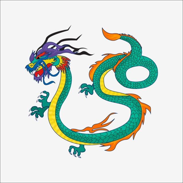Dragon Vert Couleur Verte Le Dessin Mythologie Chinoise