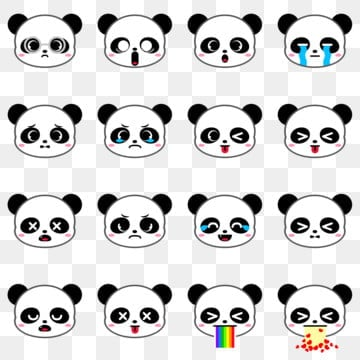 Anxiety Stuffed Animal, Cute Panda Bear Emoji Collection Set 1 Cute Icons Emoji Icons Collection Icons Png Transparent Clipart Image And Psd File For Free Download