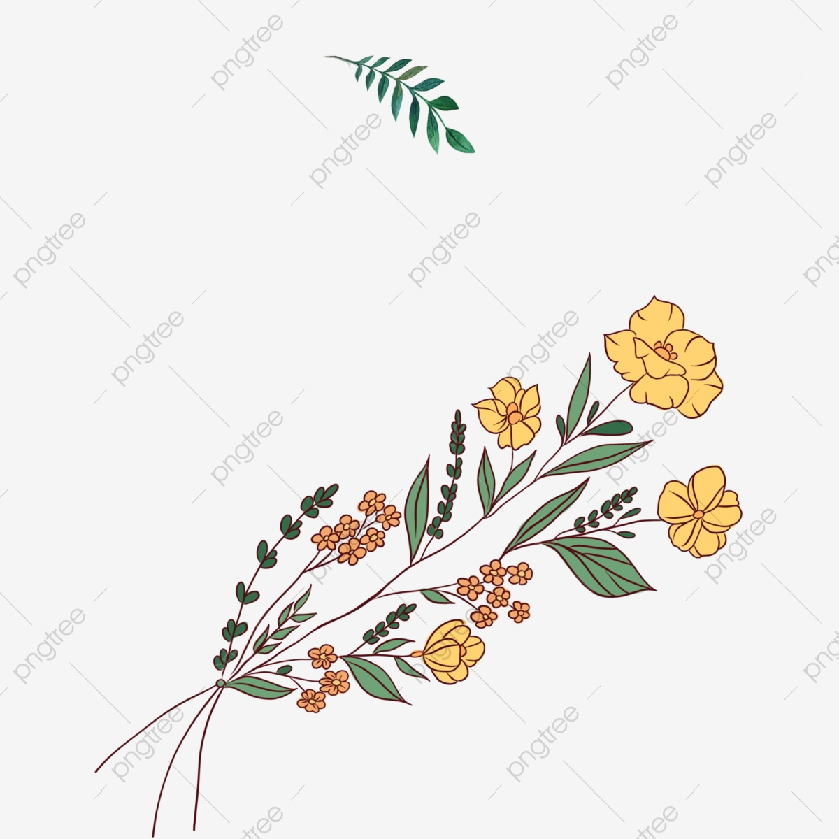 Bright Yellow Flowers Clip Art