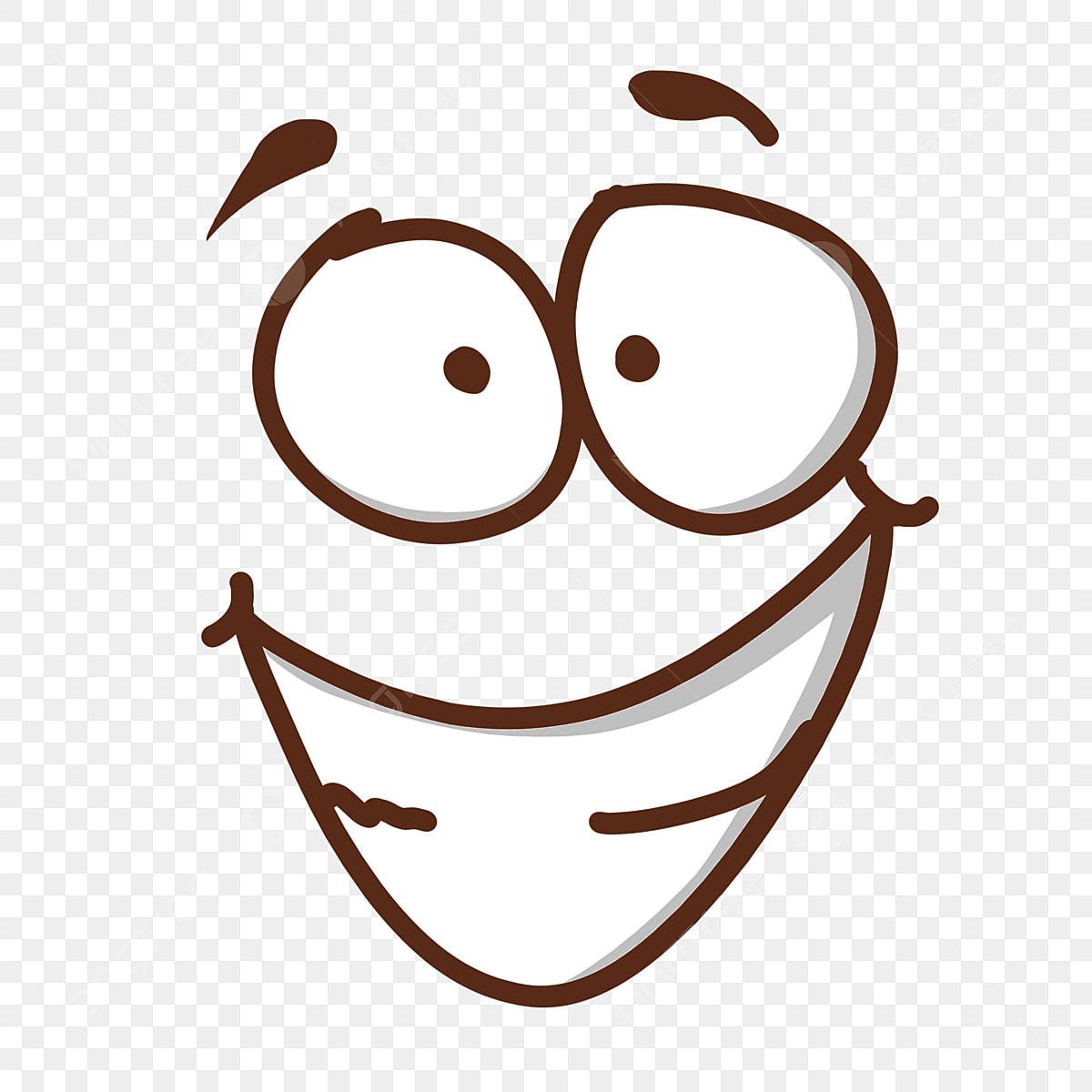 Big Eye Smile Cartoon Illustration, Smile Clipart, Smiling Cartoon ...