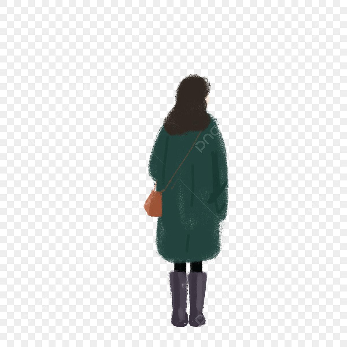 Black Girl Back View Free Illustration, Girl, Anime Character