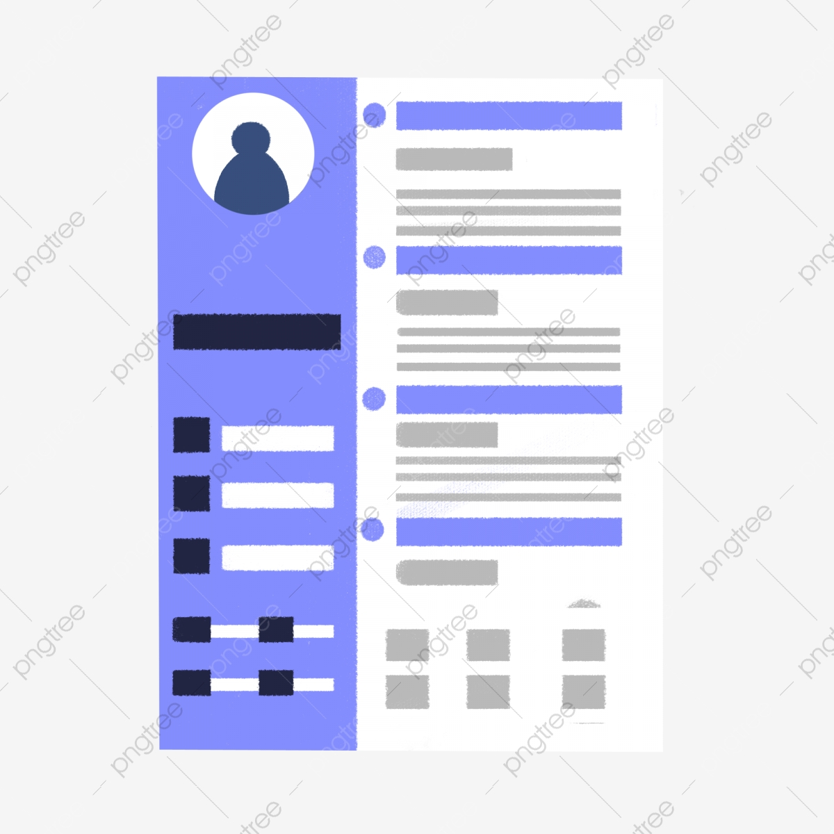 Cartoon Blue Resume Free Illustration Resume Resume Cartoon Design Png Transparent Clipart Image And Psd File For Free Download