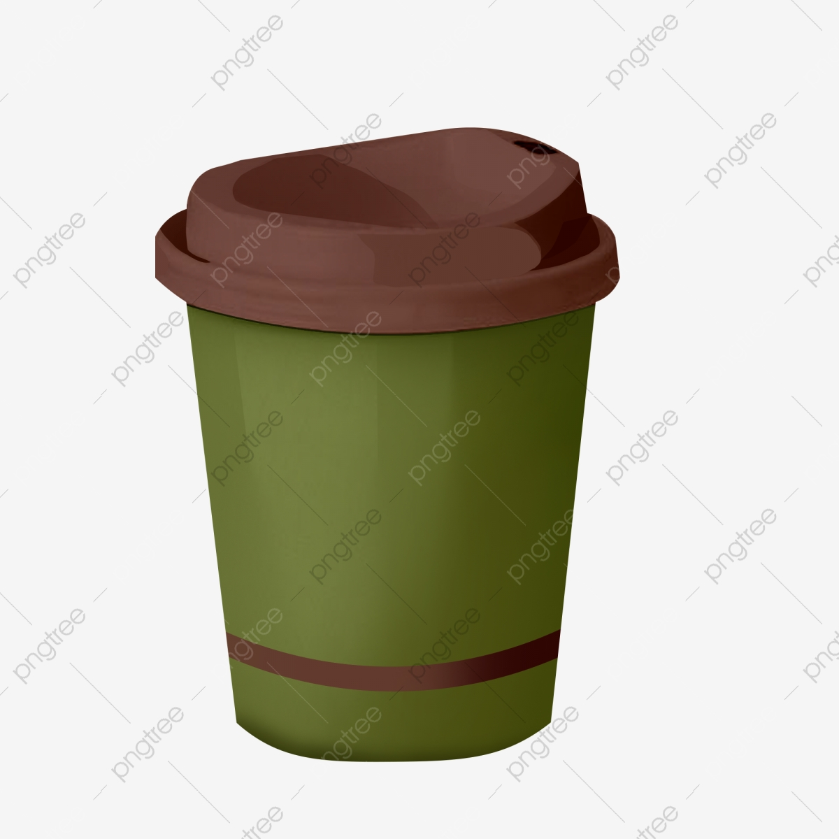 Cartoon Green Coffee Paper Cup Png, Paper Cup, Hand Drawn ...