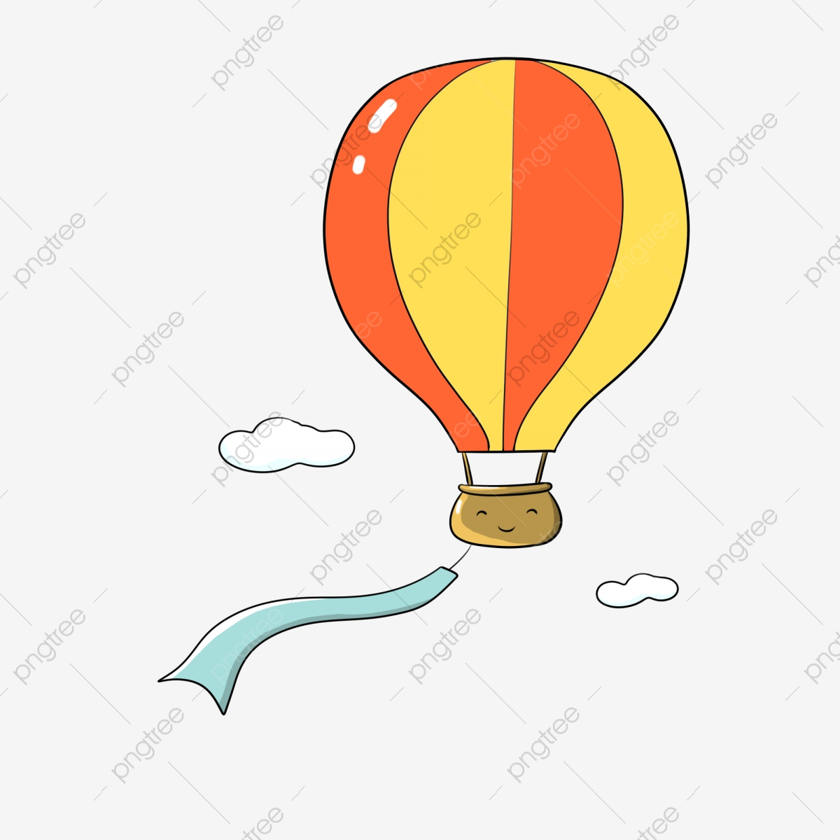 Cartoon Hot Air Balloon Cute Balloon Colorful Hot Air