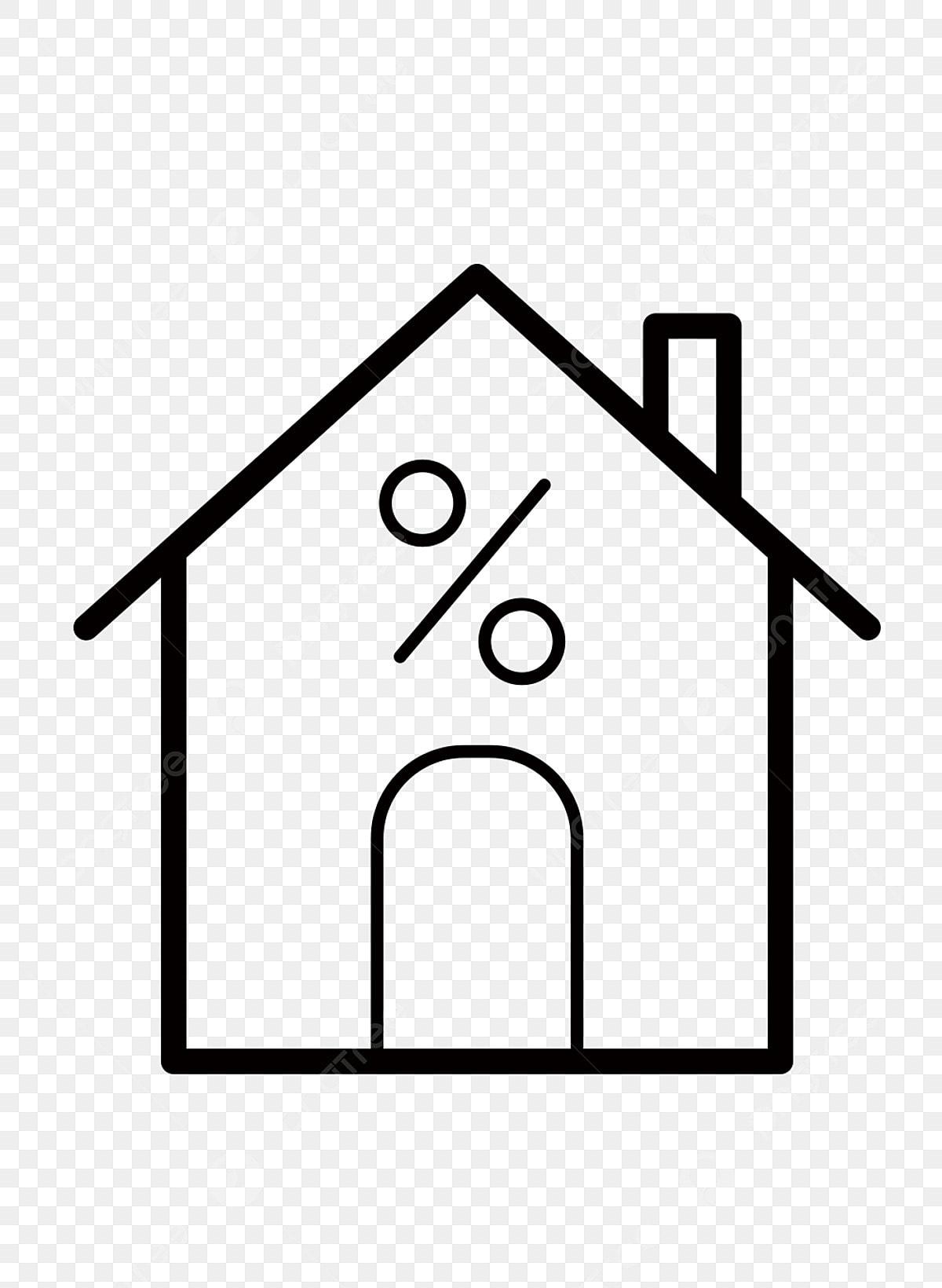 Simple Cent Pour Cent Maison Dessin Au Trait Noir Maison