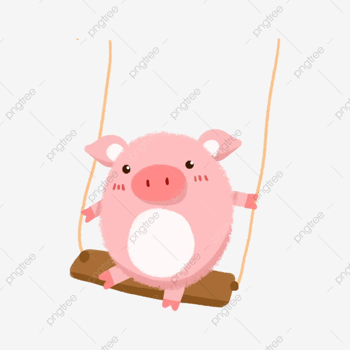 Dessin Animé Illustration Piggy Animal Porcinet Dessinés à