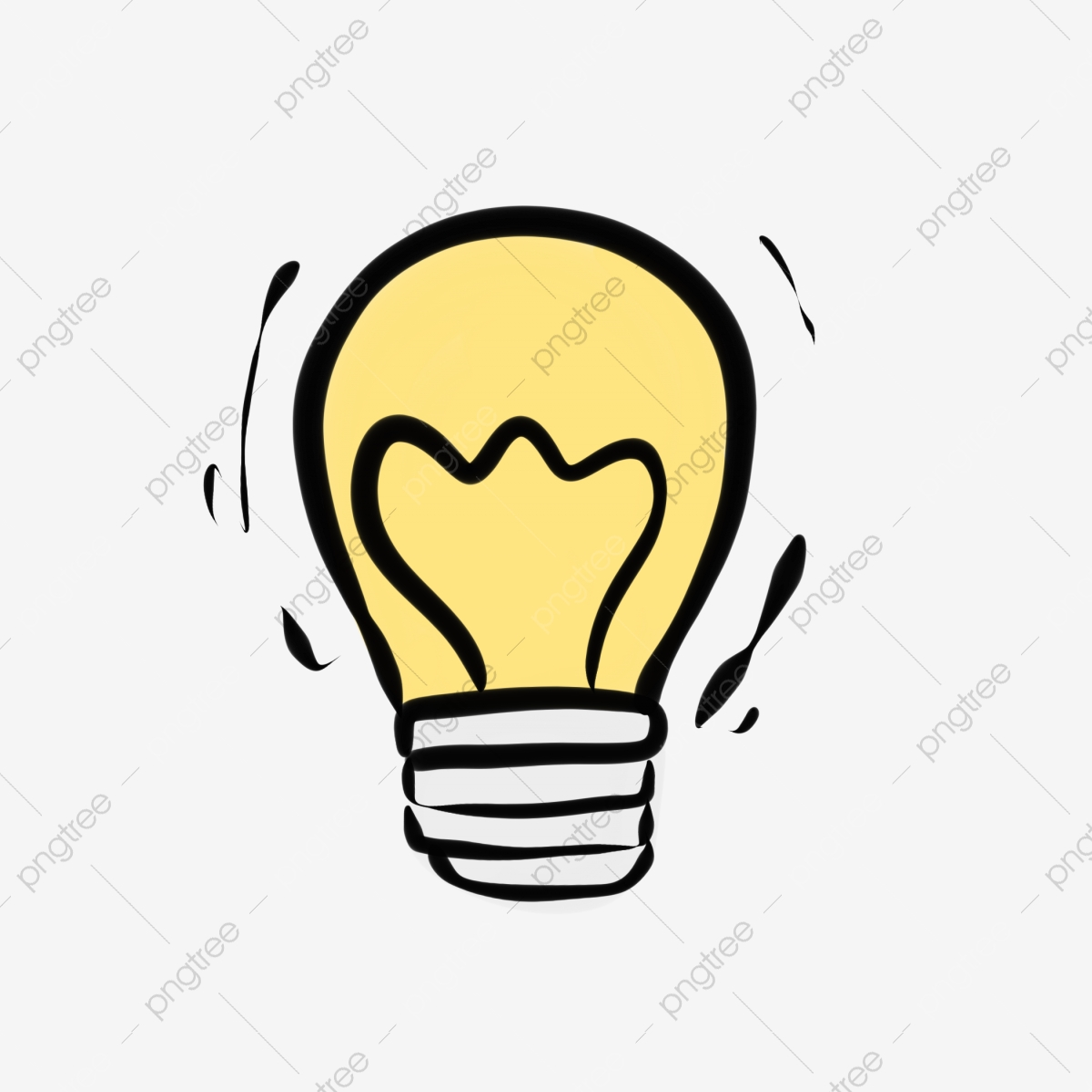 Ampoule Lampe Dessin Anime Mignon Deux Yuans Ampoule Mignon Fichier Png Et Psd Pour Le Telechargement Libre