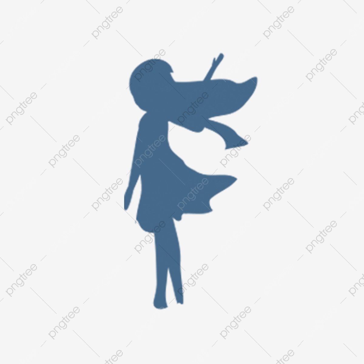 Character Silhouette Girl Girl Silhouette Cartoon Illustration Png Transparent Clipart Image And Psd File For Free Download