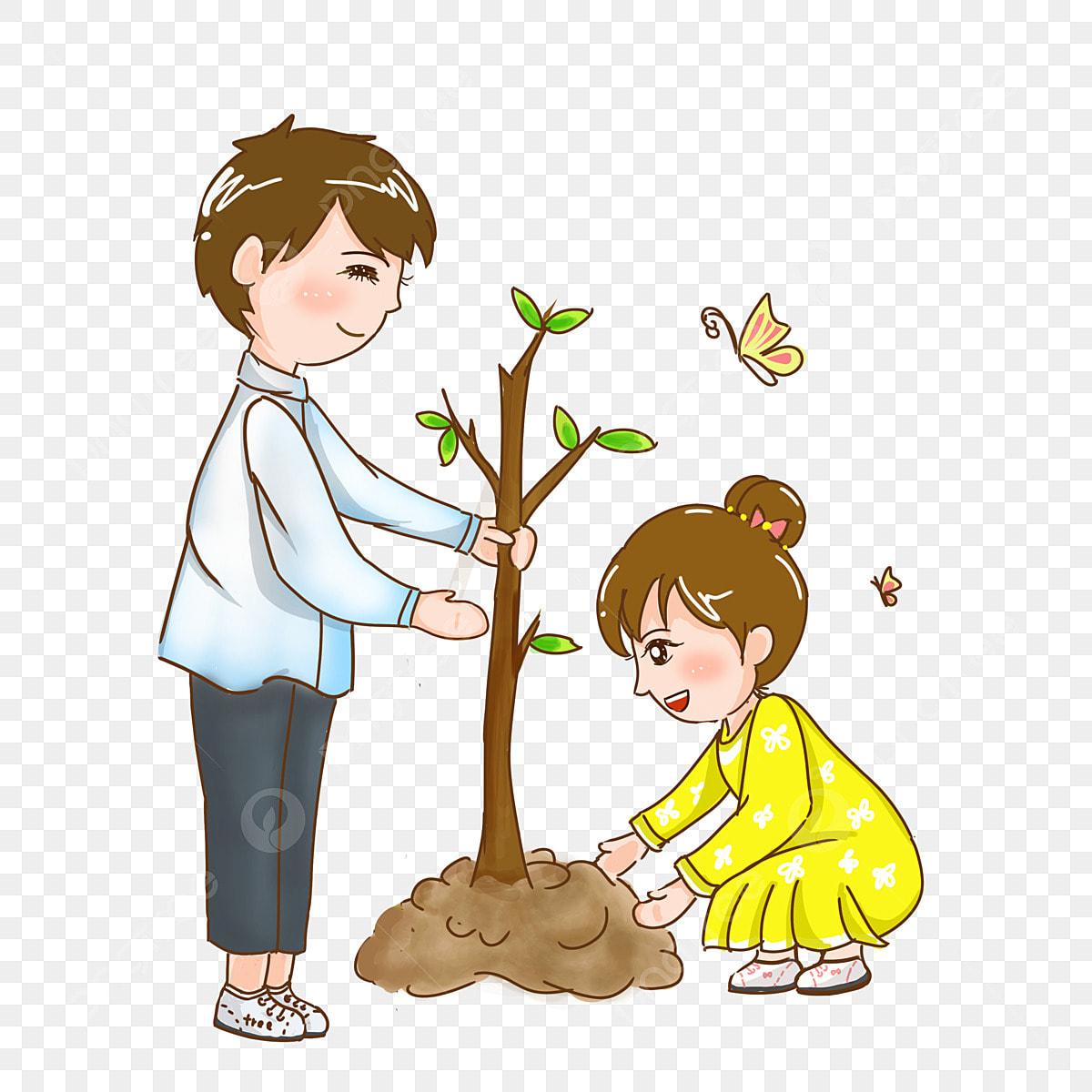 Картинки о посадке деревьев для детей