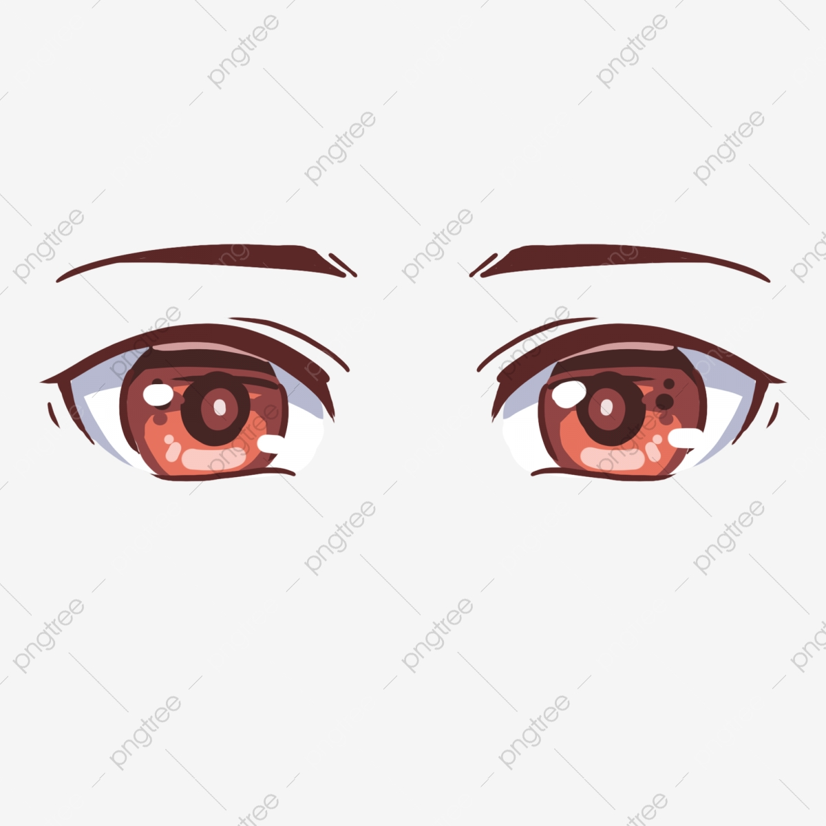 Comic Eyes Png Free Cartoon Eyes Cartoon Illustration Png