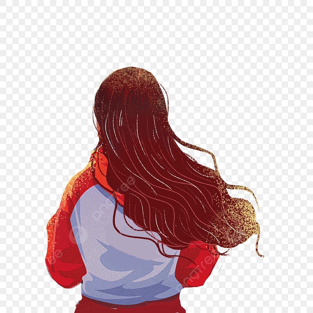 Gambar Kartun Wanita Rambut Panjang Gambar Kartun Gadis Rambut Panjang Rambut Terapung Kembali Cinta Gadis Rambut Panjang Kembali Angka Bebas Ilustrasi Butang Percuma Png Dan Psd Untuk Muat Turun Percuma