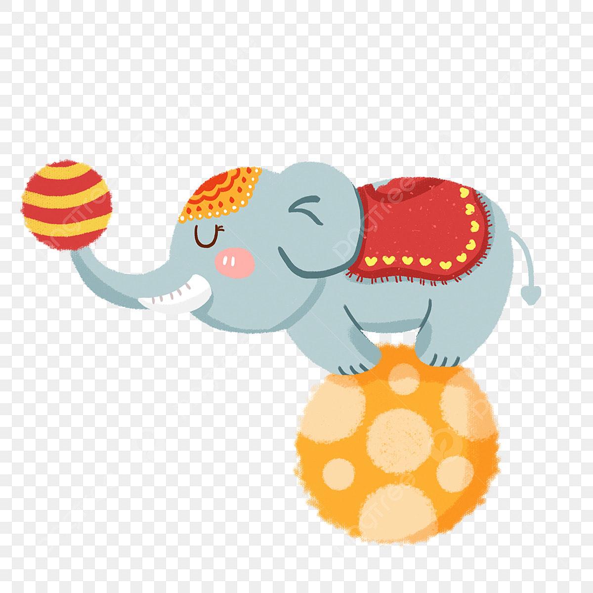 象のボール サーカス 漫画の動物 動物イラスト 動物の公演 小動物