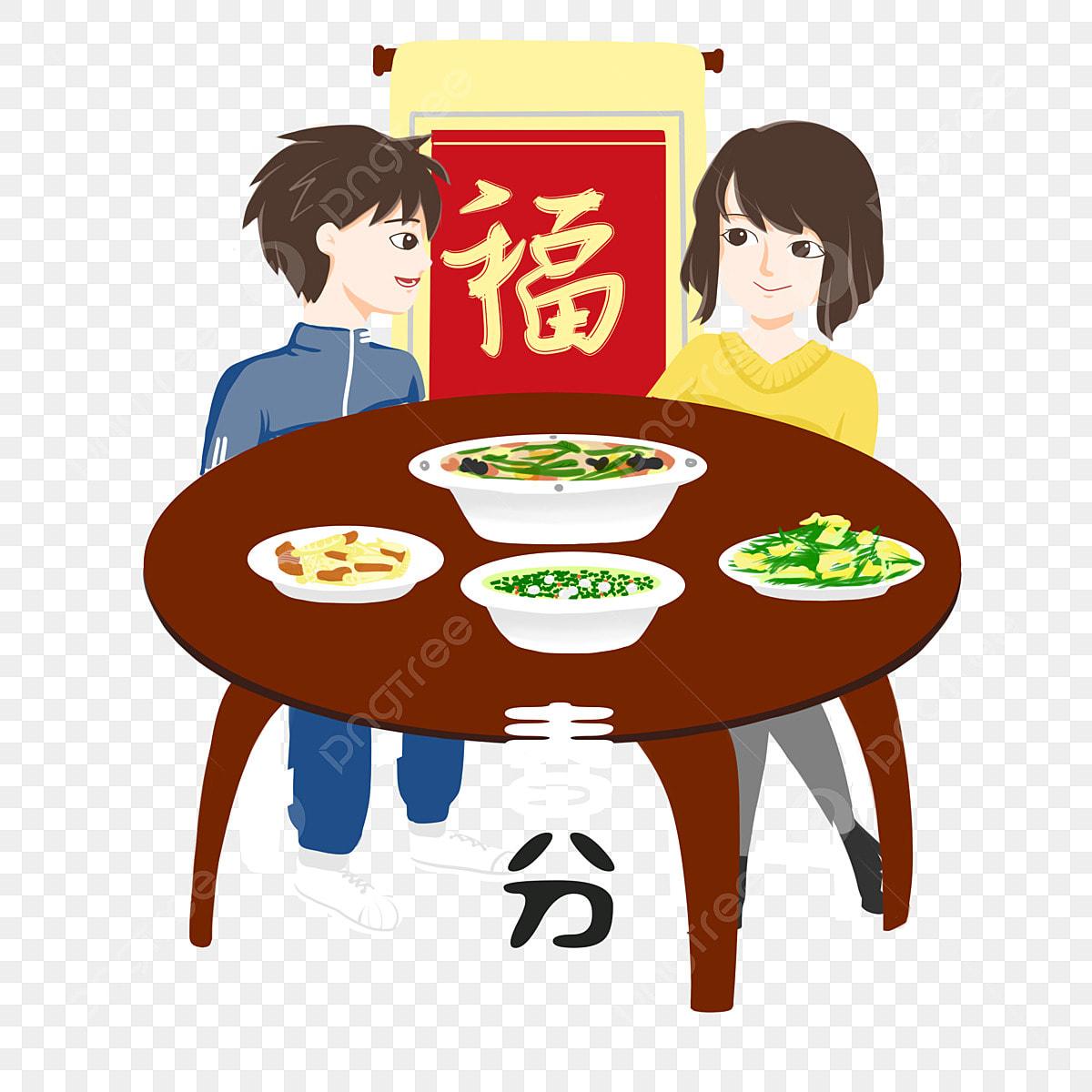 الرسم التوضيحي لشخصيات الاعتدال طعام لذيذ طاولة صفراء تناول زوجين شخصية كرتونية نعمة صفراء طاولة صفراء الرسم التوضيحي لشخصيات الاعتدال Png وملف Psd للتحميل مجانا