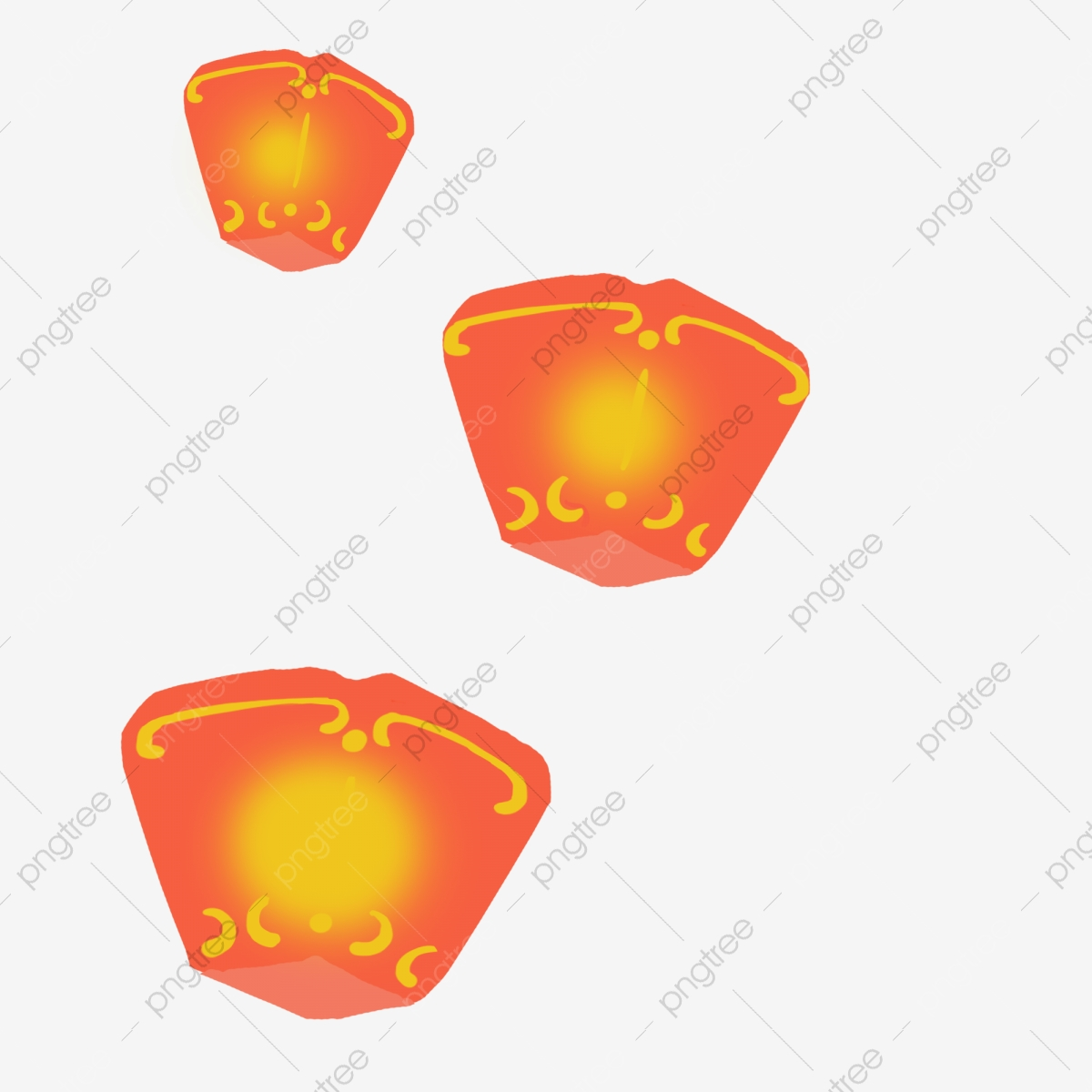 Floating Lantern Hand Drawn Illustration Floating Lanterns Three Lanterns Festive Lanterns Png Transparent Clipart Image And Psd File For Free Download
