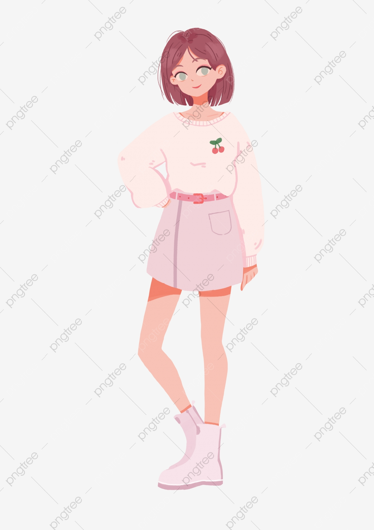 Gambar Hari Kanak Kanak Perempuan Musim Bunga Memakai Gadis Skirt Kasut Kanvas Berdiri Png Dan Psd Untuk Muat Turun Percuma